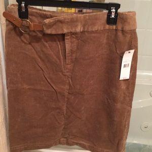 NWT American living corduroy skirt tan size 6